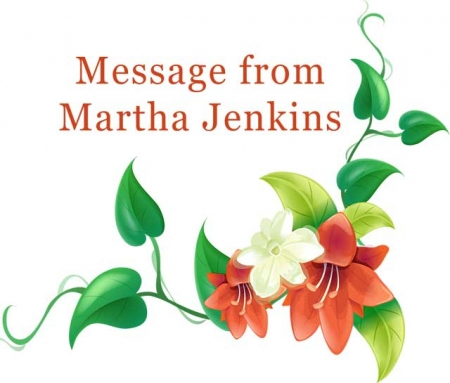 Message from President Martha Jenkins